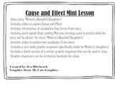 Cause and Effect Mini Lesson Mufaro's Beautiful Daughters