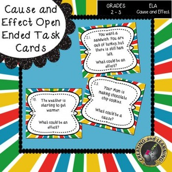Cause and Effect Open Ended Task Cards