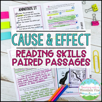 Cause and Effect Paired Passages