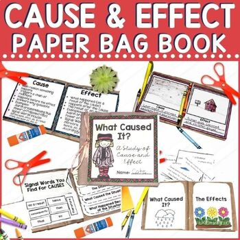 Cause and effect is challenging. With this paper bag book, Students explore the difference between cause and effect, work on signal words, create example situations, sort examples, illustrate examples, find examples in reading, and explain their learning. A grading rubric is included.