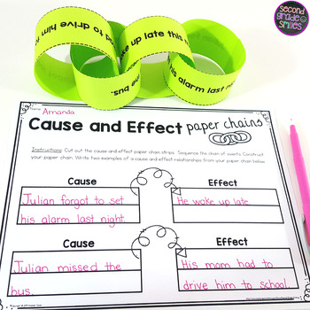 Cause and Effect Paper Chains