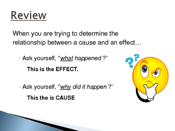 Cause and Effect Part I:  Interactive PowerPoint Presentation