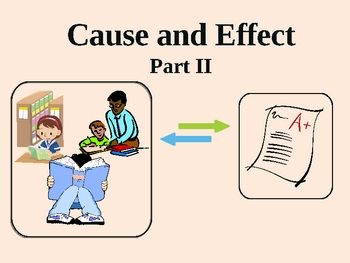 Cause and Effect Part II:  Practice!  Interactive PowerPoint