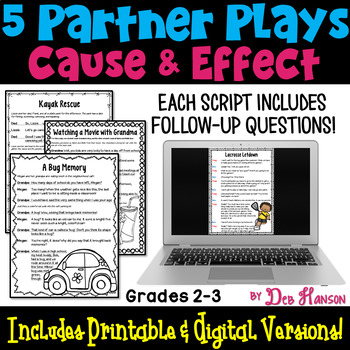 Cause and Effect Partner Plays  (2nd and 3rd grade)