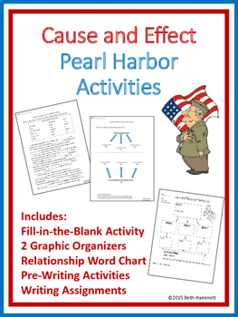 Cause and Effect Pearl Harbor (& History) Activities