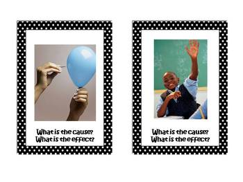 Cause and Effect Photo Task Cards2