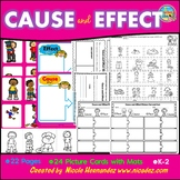 Cause and Effect Picture Cut and Paste Sort with Writing Sheets and Sorting Mats