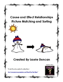 Cause and Effect Picture Match and Sort