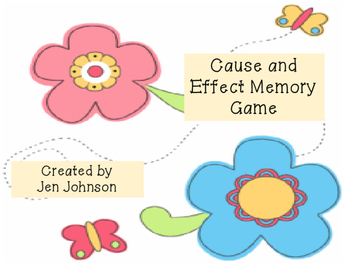 Cause and Effect Picture Memory Game