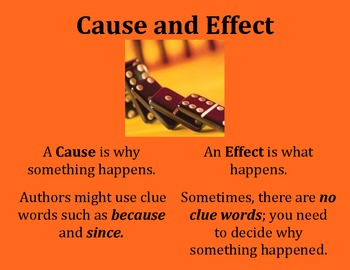 Cause and Effect Poster - Intermediate Elementary School Grades