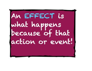 Cause and Effect Poster with Signal Words!