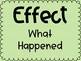 Cause and Effect Posters