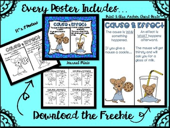 Cause and Effect Posters and Anchor Chart Parts