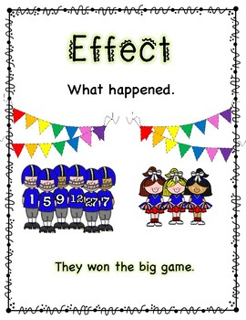 Cause and Effect Posters and Interactive Notebook