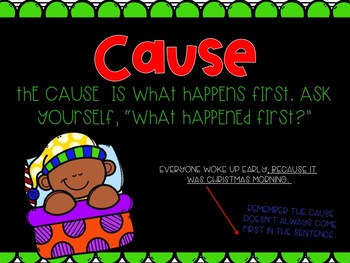 Cause and Effect PowerPoint-- Christmas Themed
