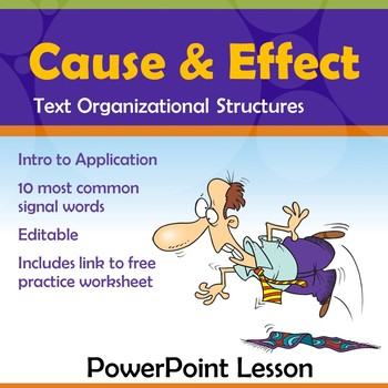 Cause and Effect PowerPoint Lesson and Practice