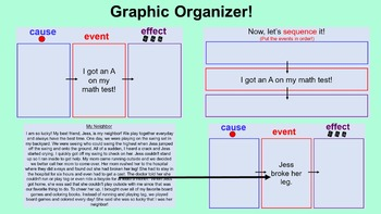 Cause and Effect PowerPoint Lessons and Activities