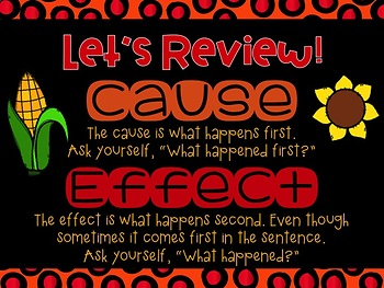 Cause and Effect PowerPoint-- Thanksgiving Themed