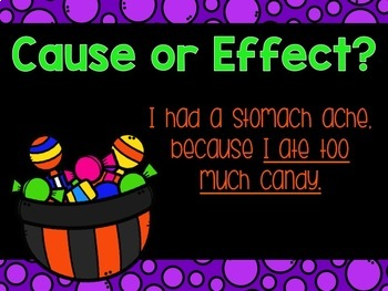 Cause and Effect Powerpoint Halloween Themed