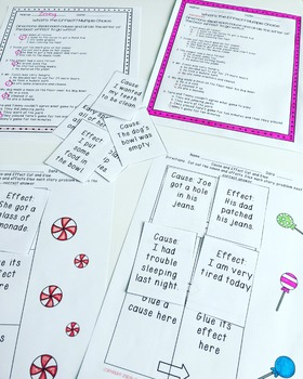 Cause and Effect Practice | Task Cards Passages and Activities