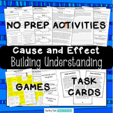 Cause and Effect Centers, Task Cards, and No Prep Activities Bundle