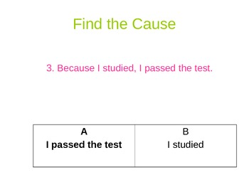 Cause and Effect Quiz
