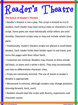 Cause and Effect Reader's Theatre Script