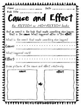 Cause and Effect Reading Sheets for Daily 5 and Raz Kids