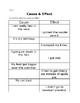 Cause and Effect Reading Skill Sheet