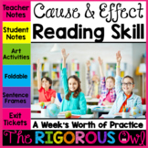 Cause and Effect Reading Skill Week Lesson and Practice