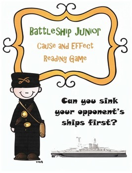 Cause and Effect Review Game: Battleship (Fiction and Nonfiction text)