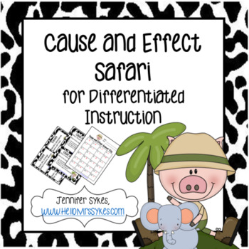 Cause and Effect 24 Matching Cards and 24 Task Cards for grades 2-3