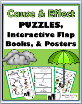 Cause and Effect Self-Correcting Puzzles, Interactive Flap Books & Posters