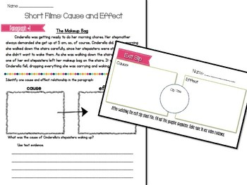 Cause and Effect Short Film Lesson - FUN start of year reading lesson!