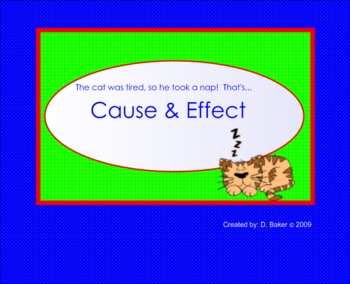 Cause and Effect Smartboard Lesson