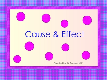 Cause and Effect Smartboard Presentation