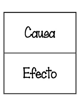 Cause and Effect Sort (Causa y Efecto) Spanish