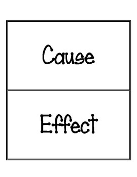 Cause and Effect Sort (English)