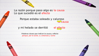Cause and Effect Spanish PowerPoint