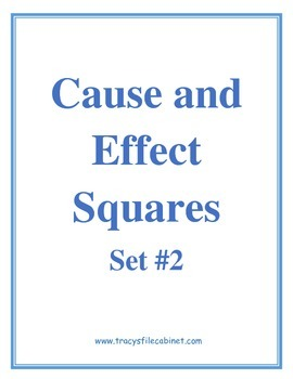 Cause and Effect Squares Set #2