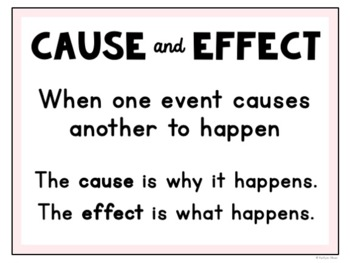Cause and Effect Statement Task Cards for Reading Comprehension