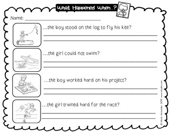 Cause and Effect Worksheets and Sorting Cards