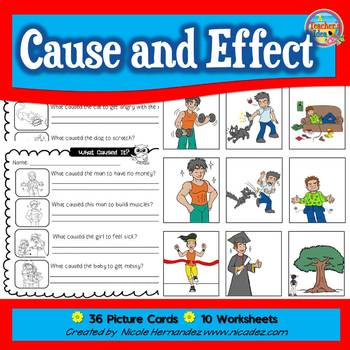 Cause and Effect Picture Sort and Worksheets