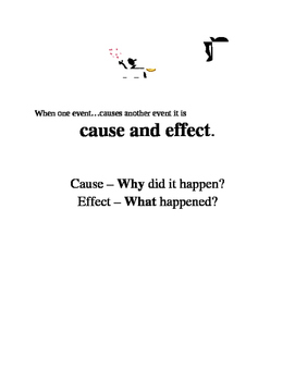 Cause and Effect Strategies and Template