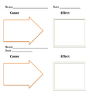 Cause and Effect  Student Exit Slip Graphic Organizer Lite