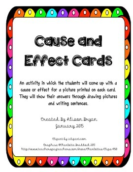 Cause and Effect TCard