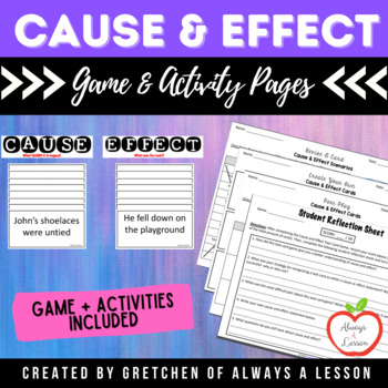 Cause and Effect Task Card Game