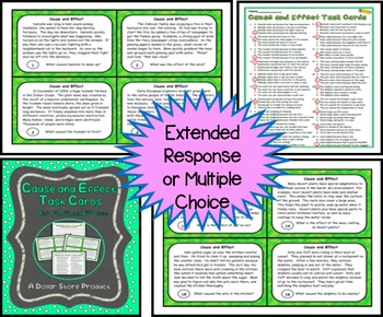 Cause and Effect Task Cards for Grades 4,5, and 6
