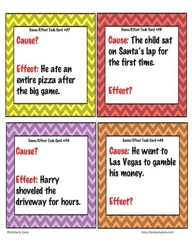 Cause and Effect Task Cards