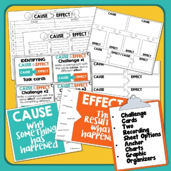 Cause and Effect Task Cards   Cause and Effect Short Passages   Text Structure